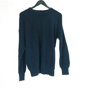 American Apparel Navy Knit Fisherman Sweater